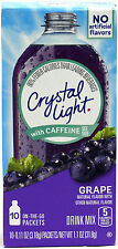 50 10-Packet Boxes Crystal Light Grape With Caffeine On The Go Drink Mix