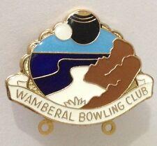 Wamberal Bowling Club Badge Pin Vintage Lawn Bowls Beach Design (L34)