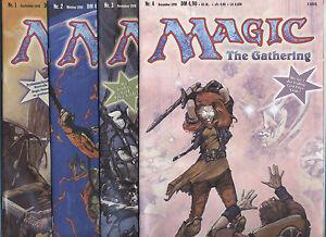MAGIC THE GATHERING (deutsch) # 1+2+3+4 KOMPLETT - CARLSEN COMICS 1998 - TOP