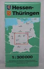 Germany - 1:300,000 Map - Hessen-Thuringen - 1990