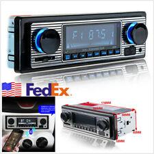 Car 4-CH Stereo FM Retro Radio 12V Player Bluetooth MP3 USB AUX WAV FM USA Ship