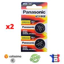 PANASONIC Pile Bouton Lithium Pile CR2032 3V Neuf Sous Blister x2 Haute Qualité
