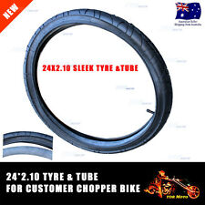 24 Inch 24 X 2.10 Sleek Front Tyre & Tube 4 Custom Harley Bike Stingray Chopper