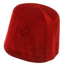 Deluxe Red Velvet Fez Hat Dr. Who Moroccan Aladdin Shriner Hat Size 58cm