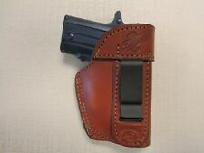 Fits Sig P238 with laser brown leather IWB ambidextrous holster, Braids Holsters