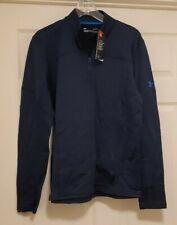 Men's Under Armour Coldgear Reactor Quarter Zip Fleece Pullover Blue L Nwt $90