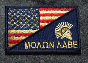 MILTACUSA SPARTAN SUBDUED USA FLAG TACTICAL COMBAT PATCH