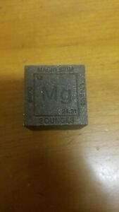 """MAGNESIUM CUBE 1.25"""" SQUARE 2+ OZ CUBE-SQUARE """"MG""""  99.9% PURE MAGNESIUM- UNIQUE"""