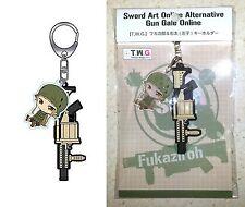 Sword Art Online Alternative Gun Gale Online Keychain T.W.G. Fukajiro & Uta Sako