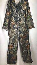 Wolf Mountain Mens Coverall Size Medium Regular Mossy Oak Camo Cotton/Poly Blend