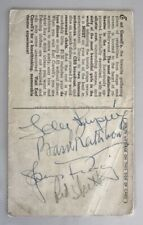 Genuine Ida Lupino Basil Rathbone Spencer Tracy Red Skelton Autographs LOA 1940s