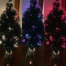 "Small Fibre Optic Christmas Tree Gold Pot Xmas Decoration 34""- 35"""
