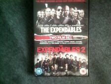 THE EXPENDABLES 1 & 2*DVD*ACTION*BRUCE WILLIS*SYLVESTER STALLONE*RATED 15