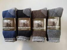 6 PAIRS MENS SZ 6-11 MIX LOT MERINO  WOOL CUSHION FOOT EXTRA THICK WORK SOCKS
