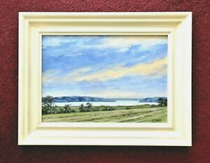 """Eye catching oil painting signed on framed, titled """"The Western Isles""""."""