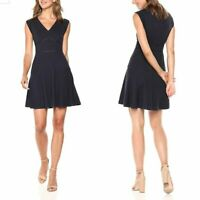 Rebecca Taylor Womens Blue Honeycomb A Line Silhouette V Neck Taylor Dress Sz 4
