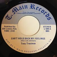 Tony Troutman: Can't Hold Back My Feelings / Do It Right 45 - Soul