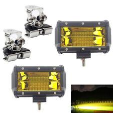 "2pc 5"" 72W LED Light Bar Work SPOT FLOOD Combo Beam 4WD Auto BOAT ATV+Montieren"
