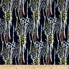 """100% Cotton Fabric 45"""" W Quilting Fabric By The Yard Midnight Forest Dear Stella"""