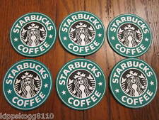 6 Starbucks Drink Coasters Green - New - Free Ship from US Coffee Mug Cup Car