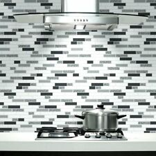 Black White Silver Tile Wallpaper Glitter Brick Effect Modern Bathroom Feature