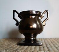 Vtg Haeger Art Pottery Trophy Vase Bronze Glaze Midcentury Heavy