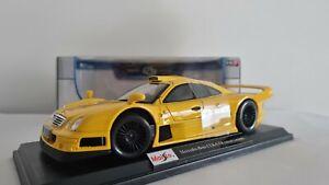 Maisto Mercedes Benz CLK GTR Diecast Model Car 1:18 Special Edition Yellow