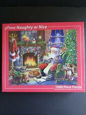 "Vermont Christmas Company ""Naughty or Nice"" 1000 Piece Puzzle Christmas Santa"
