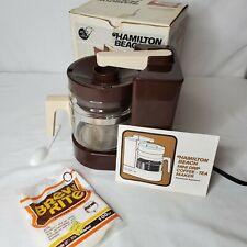 Vintage Coffee Maker Hamilton Beach Scovill 4 Cup Mini Drip Brown Tiny Home USA