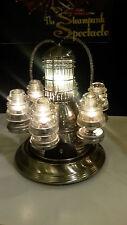 "Steampunk Lamp ""Space Port"" Atomic Age Lamp"