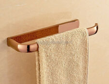 Rose Gold Copper Wall Mounted Bathroom Bath Single Towel Bar Towel Rail yba868