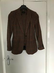 Autograph brown checked trouser suit