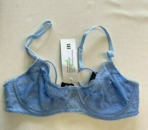 Out From Under Blue Lace Bra Size S Brand New With Tags UK Seller