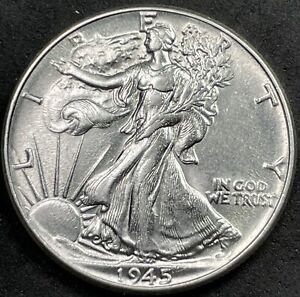 BEAUTIFUL HIGH GRADE BU 1945 WALKING LIBERTY HALF DOLLAR. SELLING ENTIRE SET!