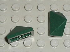 2 x LEGO DkGreen slope brick ref 3048 / Set 70006 7947 5771 10217 70010 9498 ...
