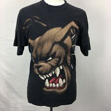 VTG 1990s Cross Breed Angry Pitbull Dog Hip Hop Rap Mens T Shirt sz XL 90s