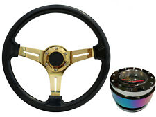 Black Gold TS Steering Wheel + Neo Quick Release boss NCh for LAND ROVER