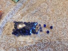 8mm dark blue transparent glass beads