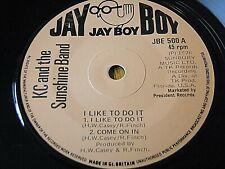 KC & THE SUNSHINE BAND - I LIKE TO DO IT / KEEP IT COMIN' LOVE / BOOGIE SHOES