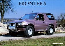 Prospekt 1993 Opel Frontera Irmscher Autoprospekt 8 93 Geländewagen Auto Pkw