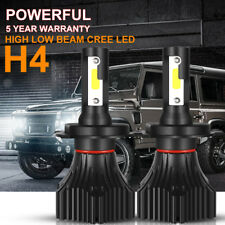 H4 9003 HB2 CREE LED Headlight Kit 1200W 180000LM Hi/Low Bulbs 6000K HID Replace