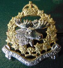WW2 KC THE NEW BRUNSWICK RANGERS NBR bi-metal cap badge NICE!