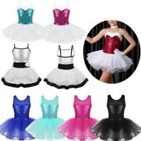 Children Ballet Dance Dress Girls Tutu Skirt Leotard Latin Gymnastics Costume