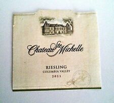 Chateau Ste Michelle Wine Bottle Labels Riesling 2011