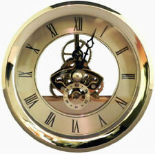"Quartz Skeleton Fit Up Insert Clock Mechanism Size 4-1/16"" Diameter"