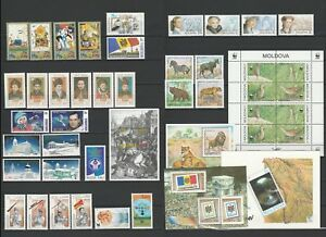Moldova 2001 Complete year set MNH stamps, blocks, sheets and booklet