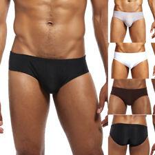 Men's Fashion Low-Waist Brief Pure Ice-silk Underwear Comfortable Underwear Soft