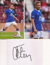 EVERTON* TOM CLEVERLEY SIGNED 6x4 WHITECARD+UNSIGNED PHOTOS+COA