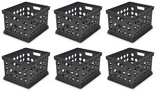 6) Sterilite 16939006 Plastic Heavy Duty File Crate Stacking Storage Containers