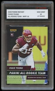 CHASE YOUNG 2020 PANINI INSTANT ALL-TEAM 1ST GRADED 10 ROOKIE CARD RC WASHINGTON